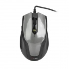 MCSAITE USB Wired 1000 / 1600DPI Optical Mouse - Deep Gray (150cm-Cable)
