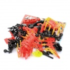 DIY 3D Toy Brick Hero XPLODE Star Soldier - Red + Yellow + Black