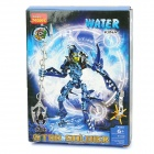 DIY 3D Toy Brick Hero WATER KINA Star Soldier - Blue