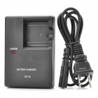 Compact Battery Charger for Fuji FinePix Z Series & J Series - Black (2-Flat-Pin Plug)