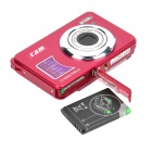 "5.0MP Digital Camera w/ 3X Optical Zoom / SD / Mini USB - Red (2.7"" LCD)"