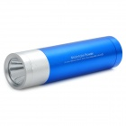4000mAh Mobile External Power Battery Pack w/ White LED Flashlight & Charging Adapters - Blue