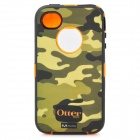 Compact OTTER BOX Three-layer Protective Case for iPhone 4/4S - Camouflage Green + Orange