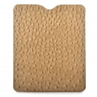 Stylish Protective PU Leather Case with Ostrich Grain for Ipad / Ipad2 / New Ipad - Light Brown