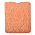 Stylish Protective PU Leather Case with Ostrich Grain for Ipad / Ipad2 / New Ipad - Orange