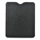 Stylish Protective PU Leather Case with Ostrich Grain for Ipad / Ipad2 / New Ipad - Black