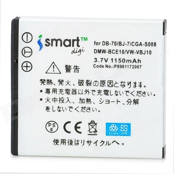 iSmart Digi Replacement CGA-S008/DMW-BCE10 1150mAh Battery for Panasonic / Ricoh / Leica Cameras