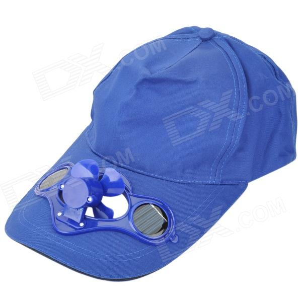 Baseball Hat / Cap with Solar Powered Cooling Fan - Dark Blue (55~58cm)