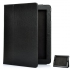 Protective Sheepskin Leather Case with Screen Protector for New Ipad - Black
