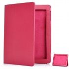 Protective Sheepskin Leather Case with Screen Protector for New Ipad - Deep Pink
