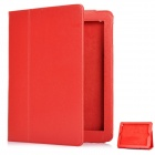 Protective Sheepskin Leather Case with Screen Protector for New Ipad - Red