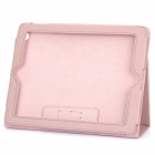 Protective Sheepskin Leather Case with Screen Protector for New Ipad - Pink