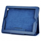 Protective Sheepskin Leather Case with Screen Protector for New Ipad - Blue