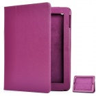 Protective Sheepskin Leather Case with Screen Protector for New Ipad - Purple
