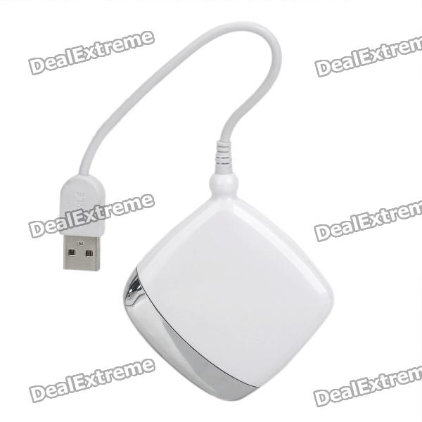 Multi-Function 5-in-1 USB Card Reader with MS / XD / SD / MMC / CF 4.0 Slot - White + Silver