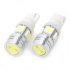 T10 14 ~ 16lm 4x5050 SMD + 1W High Power LED Lampe Auto weißes Licht (DC 12V / Paar)