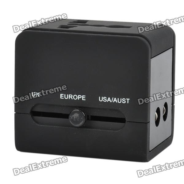 5-in-1 Travel Charging Adapter Charger w/ UK / Europe / USA / AUST / USB / Universal Socket - Black помянник о живых и усопших