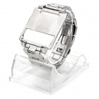 Wrist Watch Style Protective Metal Case w/ Band for Ipod Nano 6 - Silver