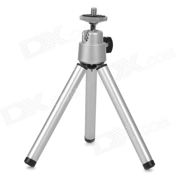Mini 7-inch Metallic TrIPOD - SilverTripods and Holders<br>- Metallic construction- Extensible legs to reach 7 in height (5 when retracted)- Supports 1lb+ weight (when weight is balanced)- Suitable for telescopes and small digital cameras- Legs can be collapsed for portability<br>