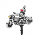 Cool Ghost Rider Style Anti-Dust Plug for Iphone / Ipad / 3.5mm Audio Jack - Grey White