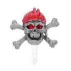 Cool Pirate Skull Style Anti-Dust Plug for Iphone / Ipad / 3.5mm Audio Jack - Grey White