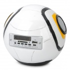 "Stylish Football Style 1.5"" LED Screen MP3 Music Player with SD/USB - White"