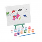 DIY Cute Cartoon Style Paint by Number Digital Oil Painting - Hello Kitty with Dolphins
