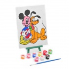 DIY Cute Cartoon Style Paint by Number Digital Oil Painting - Mickey Mouse & Pluto