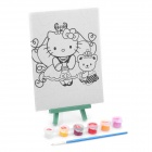 DIY Cute Cartoon Style Paint by Number Digital Oil Painting - Hello Kitty