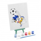 DIY Cute Cartoon Style Paint by Number Digital Oil Painting - Mickey Mouse Playing Football