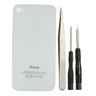 Light Flashing Back Cover with Tools Kit for iPhone 4 - White