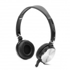 Sonun SN-1049 Stereo Headphones Headset w/ Microphone - Black