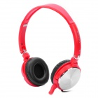 Sonun SN-1048 Stereo Headphones Headset w/ Microphone - Red
