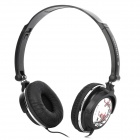 Sonun SN-E5 Stereo Headphones Headset w/ Microphone - Black + White (3.5mm Jack)
