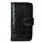 Crocodile Pattern Protective PU Leather Case for Samsung Galaxy Nexus i9250 - Black