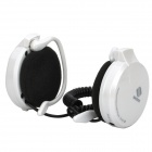Rechargeable Sports MP3 Player Headset Headphone with FM / TF Slot - White