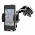 Universal Swivel Suction Cup Mount Holder for Cellphone - Black