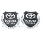 TOYOTA MOTORS Car Decorative Sticker - Black + Silver