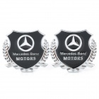 Mercedes-Benz MOTORS Car Decorative Sticker - Silver + Black