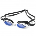 Stylish UV280 Protection Anti-Fog Anti-Glare PC Lens Swimming Goggle Glasses - Silver