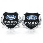 Ford MOTORS Car Decorative Sticker - Silver + Black