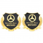 Mercedes-Benz MOTORS Car Decorative Sticker - Golden + Black