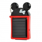 Solar Powered 480mAh External Battery Emergency Power Charger for iPhone/iPad - Black