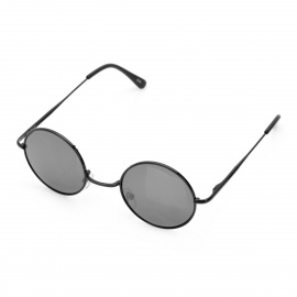 Fashion Round Resin Lens UV 400 Protection Sunglasses - Black