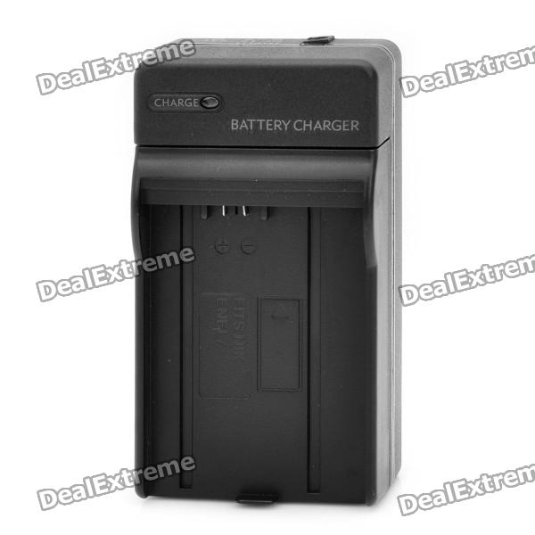 Compact Battery Charger for Nikon EN-EL7 - Black (2-Flat-Pin Plug) car ac digital camera travel battery charger for nikon en el15 black
