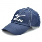 Stylish Water Resistant Baseball Cap Hat with Magnetic Ball Marker - Mizuno Logo (Dark Blue)