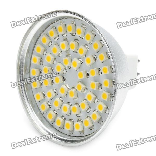 GU5.3 3W 3500K 192-Lumen 48x3528 SMD LED Warm White Spot Light Bulb (12V)