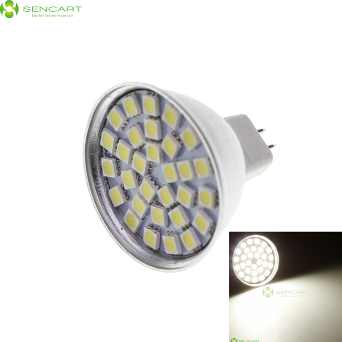 GU5.3 5.5W 6500K 390-Lumen 30x3528 SMD LED White Spot Light Bulb (12V) от DX.com INT