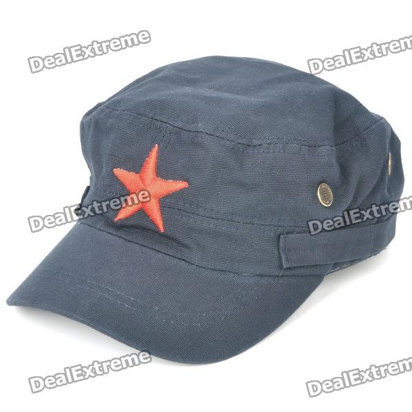 6147d4a62229b Cool Cotton Cap Hat with Red Star - Deep Blue - Free Shipping - DealExtreme