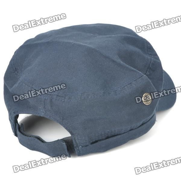 ec1fdec579d6e Cool Cotton Cap Hat with Red Star - Deep Blue - Free Shipping ...